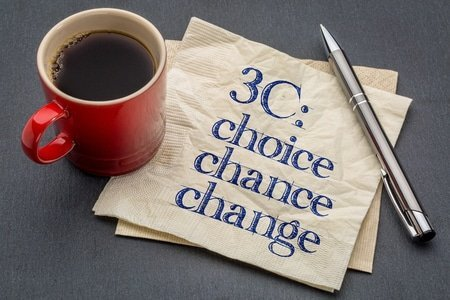 3c concept - choice, chance and change