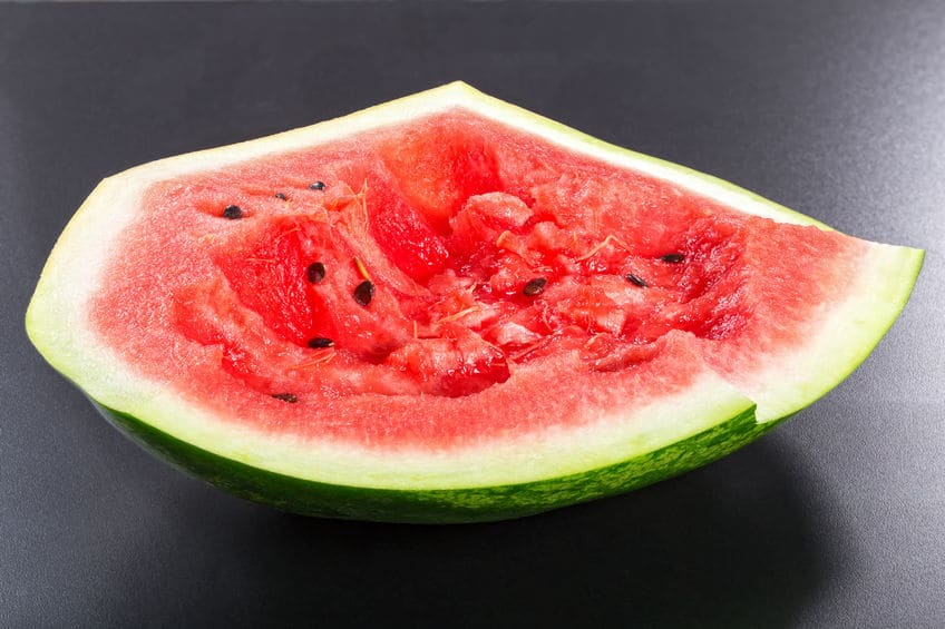 self-eaten watermelon