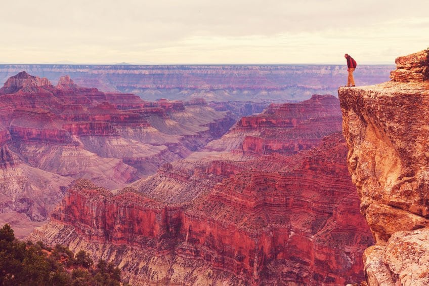 gaining perspective in the Grand Canyon